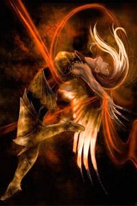 Изящная и грациозная крылатая девушка