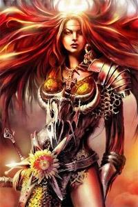 Девушка воин в плаще - ab93d