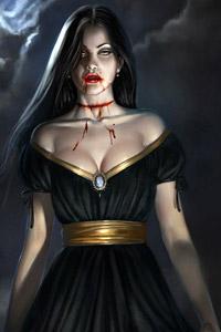 Аватарка для контакта девушка вампир